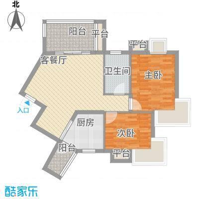 国信世家89.61㎡国信世家户型图小高层J22室2厅1卫1厨户型2室2厅1卫1厨