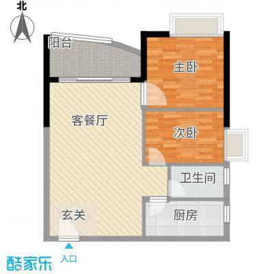 邮电宿舍95.00㎡邮电宿舍2室户型2室