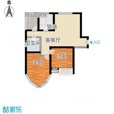 纯翠香山90.00㎡纯翠香山户型图A2室2厅1卫户型2室2厅1卫