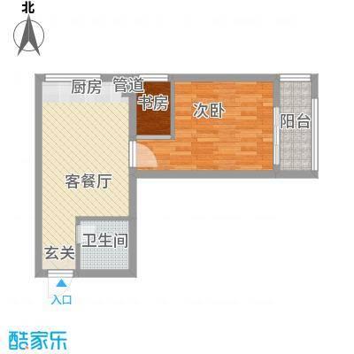 书香国际公寓59.38㎡书香国际公寓户型图A11室1厅1卫户型1室1厅1卫