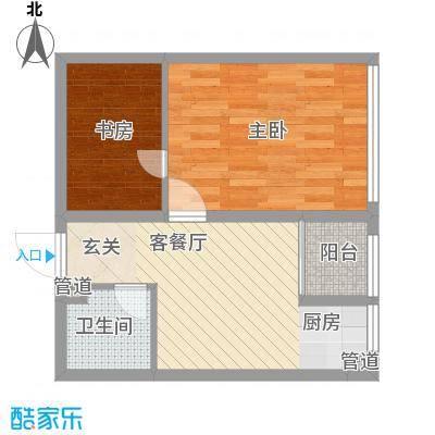 书香国际公寓59.34㎡书香国际公寓户型图C21室1厅1卫户型1室1厅1卫