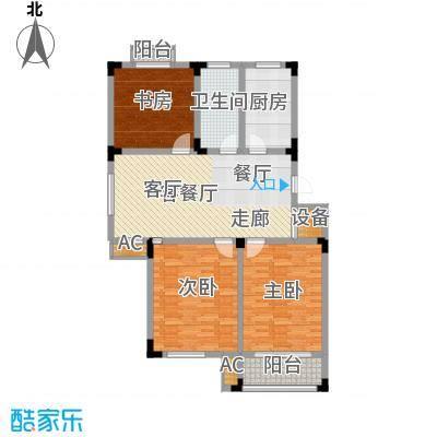 溪畔橡园115.00㎡1、2号楼B1户型3室2厅1卫1厨
