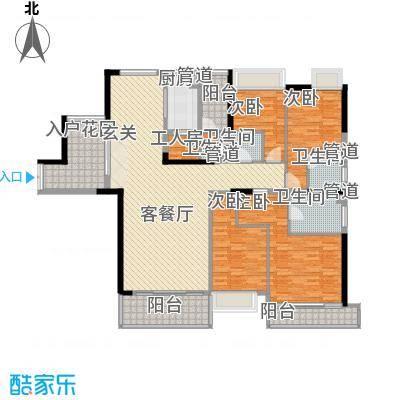 东逸豪园199.00㎡5室2厅户型5室2厅3卫1厨