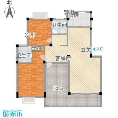 东逸豪园186.00㎡2室2厅户型2室2厅2卫1厨