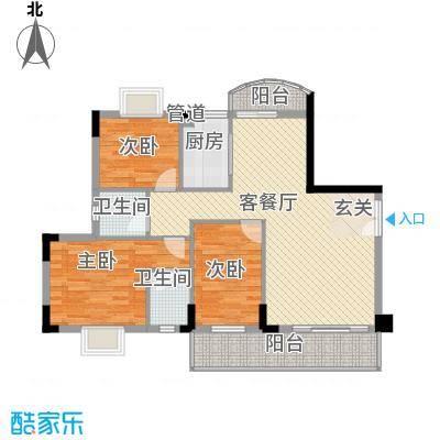 建设新村80.00㎡3室户型3室1厅1卫1厨
