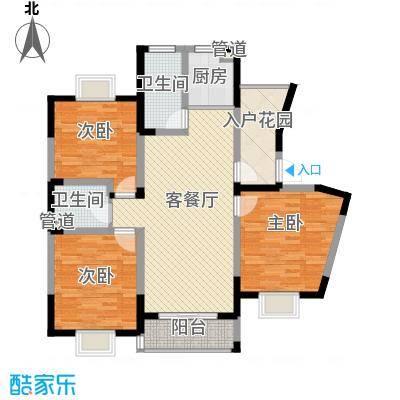 盛世翡翠135.00㎡三期2#18层FS-7户型3室2厅2卫1厨