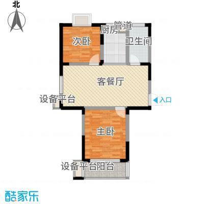 盛世翡翠88.00㎡三期1#18层FS-1户型2室2厅2卫1厨