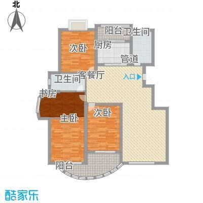春江花园三期户型图3期多层洋房A区 D2 户型 4室2厅2卫