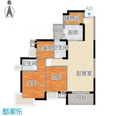 湖滨壹号131.00㎡湖滨壹号户型图B23室2厅2卫1厨户型3室2厅2卫1厨