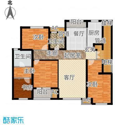 国际花都159.00㎡国际花都户型图G户型3室1厅2卫户型3室1厅2卫