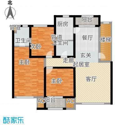 国际花都123.10㎡国际花都户型图B户型3室1厅1卫户型3室1厅1卫