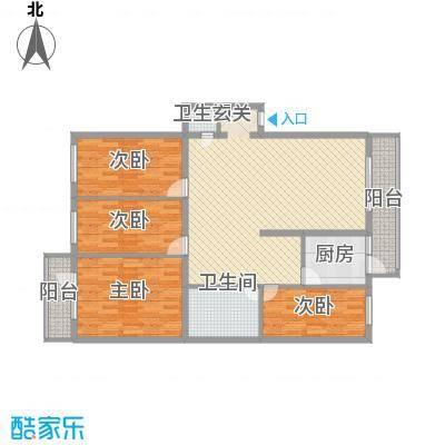 河柏花园135.62㎡河柏花园户型图4室2厅2卫1厨户型10室