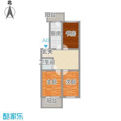 河柏花园77.35㎡河柏花园户型图3室2厅1卫1厨户型10室
