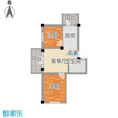 学府绿景苑学府绿景苑户型图2室1厅1卫1厨户型10室