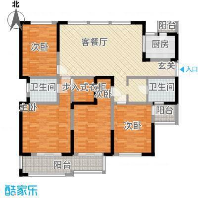 金域天下174.00㎡金域天下户型图I户型4室2厅2卫1厨户型4室2厅2卫1厨