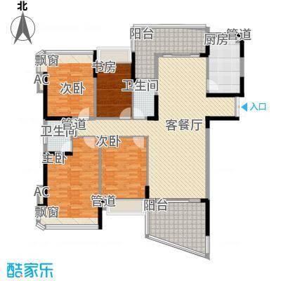 南村兴业小区4室2厅户型4室2厅2卫1厨