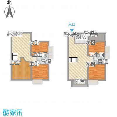 敏捷・上城国际92.00㎡A户型4室3厅2卫1厨