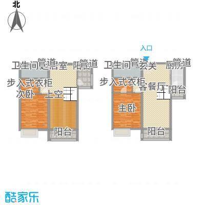 敏捷・上城国际87.00㎡B5B6户型3室2厅2卫1厨