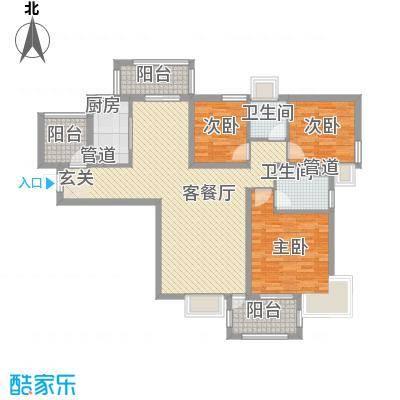 东明园102.00㎡3室2厅户型3室2厅2卫1厨