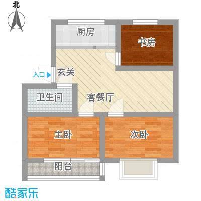新恒生大厦62.00㎡新恒生大厦2室户型2室