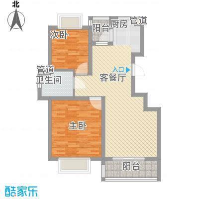 沁春园89.96㎡A3户型2室2厅1卫