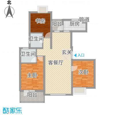 融科玖玖城户型图高层3#楼I1别墅 3室2厅2卫