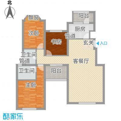 融科玖玖城135.44㎡融科玖玖城户型图4#、7#、8#楼E4户型3室2厅2卫户型3室2厅2卫