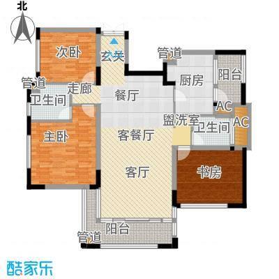 太湖锦园143.00㎡太湖锦园户型图宽景公寓B6户型3室2厅2卫户型3室2厅2卫