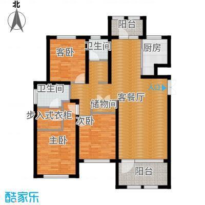 群力玫瑰湾88.70㎡G02-G03D户型3室1厅2卫1厨