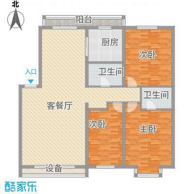 富江家园117.61㎡哈尔滨富江家园户型10室