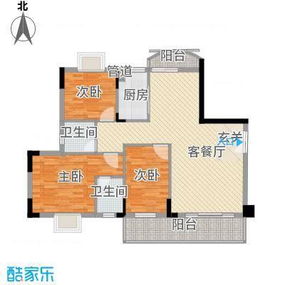 文博民丰东苑137.00㎡3室户型3室2厅2卫1厨
