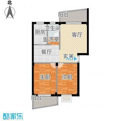 水岸华庭83.45㎡水岸华庭户型图2室2厅1卫户型10室