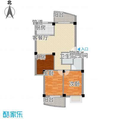 水岸华庭102.12㎡水岸华庭户型图3室2厅2卫户型10室