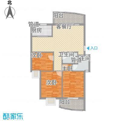 水岸华庭104.22㎡水岸华庭户型图3室2厅2卫户型10室