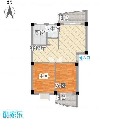 水岸华庭85.10㎡水岸华庭户型图2室2厅1卫户型10室