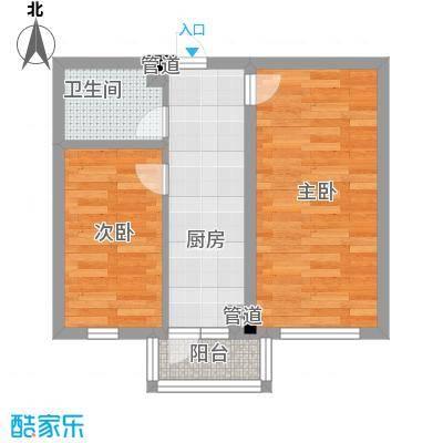 金河铭苑户型图D03-02户型  2室1厅1卫1厨