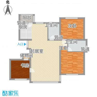 龙湖湾142.85㎡龙湖湾户型图H户型3室2厅1卫1厨户型3室2厅1卫1厨