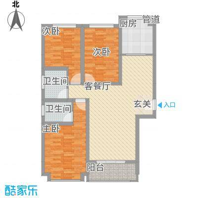 星河公馆115.00㎡星河公馆户型图D区A户型3室2厅2卫1厨户型3室2厅2卫1厨