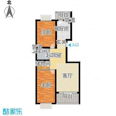 红旗MALL89.80㎡红旗MALL户型图高层户型六2室1厅1卫1厨户型2室1厅1卫1厨