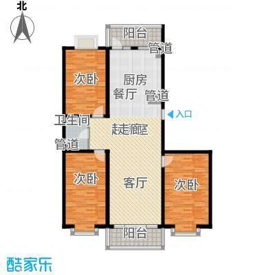 红旗MALL110.74㎡红旗MALL户型图高层户型八3室1厅1卫1厨户型3室1厅1卫1厨