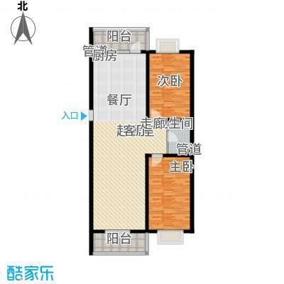 红旗MALL92.04㎡红旗MALL户型图高层户型七2室1厅1卫1厨户型2室1厅1卫1厨