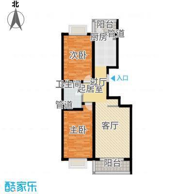 红旗MALL74.83㎡红旗MALL户型图高层户型二2室1厅1卫1厨户型2室1厅1卫1厨