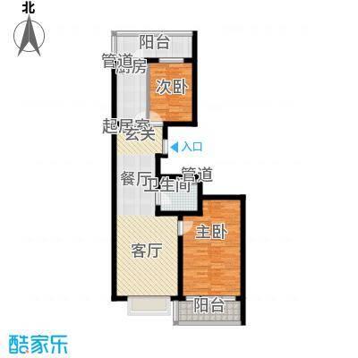 红旗MALL66.43㎡红旗MALL户型图高层户型一2室1厅1卫1厨户型2室1厅1卫1厨