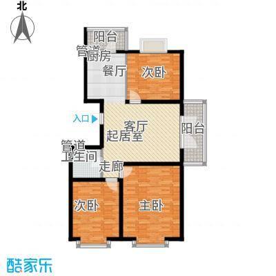 红旗MALL85.27㎡红旗MALL户型图高层户型五3室1厅1卫1厨户型3室1厅1卫1厨