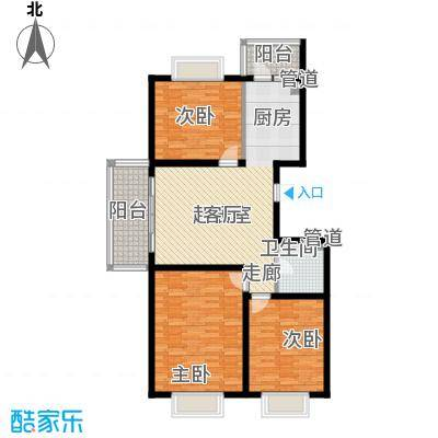 红旗MALL83.98㎡红旗MALL户型图高层户型四3室1厅1卫1厨户型3室1厅1卫1厨