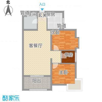 启新1889105.00㎡启新1889户型图6#C户型2室2厅1卫1厨户型2室2厅1卫1厨