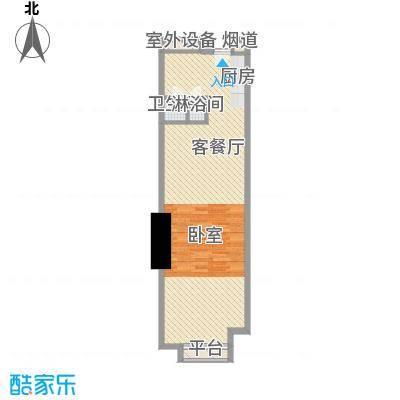 番禺万达广场SOHO公寓d户型1室1厅1卫1厨