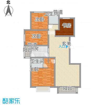 锐点嘉苑161.00㎡锐点嘉苑户型图标准层D-1户型4室2厅2卫1厨户型4室2厅2卫1厨