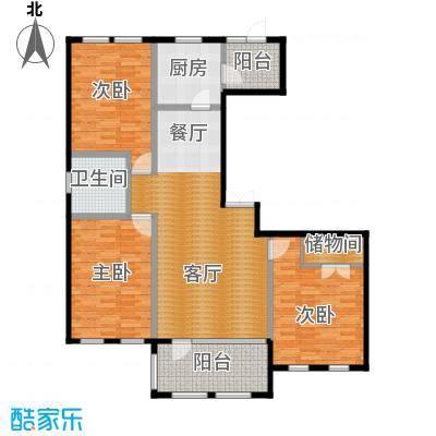 群力玫瑰湾91.79㎡G10户型3室1厅1卫1厨