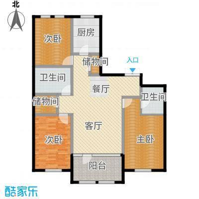 群力玫瑰湾90.97㎡G07-G09户型3室1厅2卫1厨